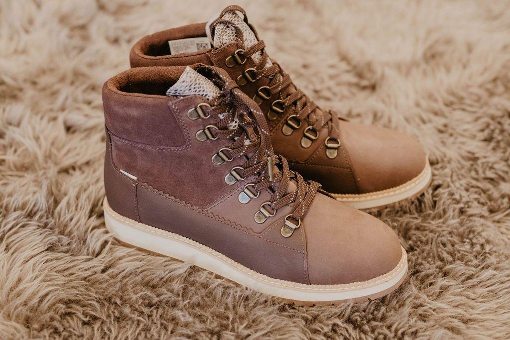 Toms Mesa Waterproof Brown & Suede Boot