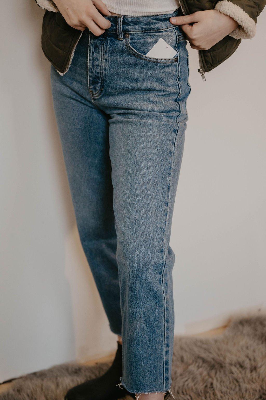 RVCA Holli High Rise Straight Leg Jean