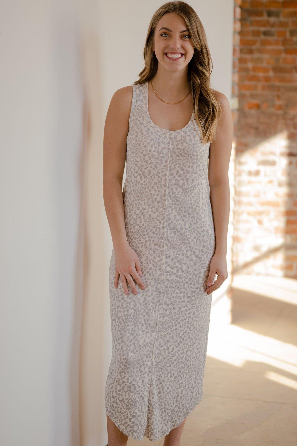 Z Supply Bone Luna Rib Hacci Dress