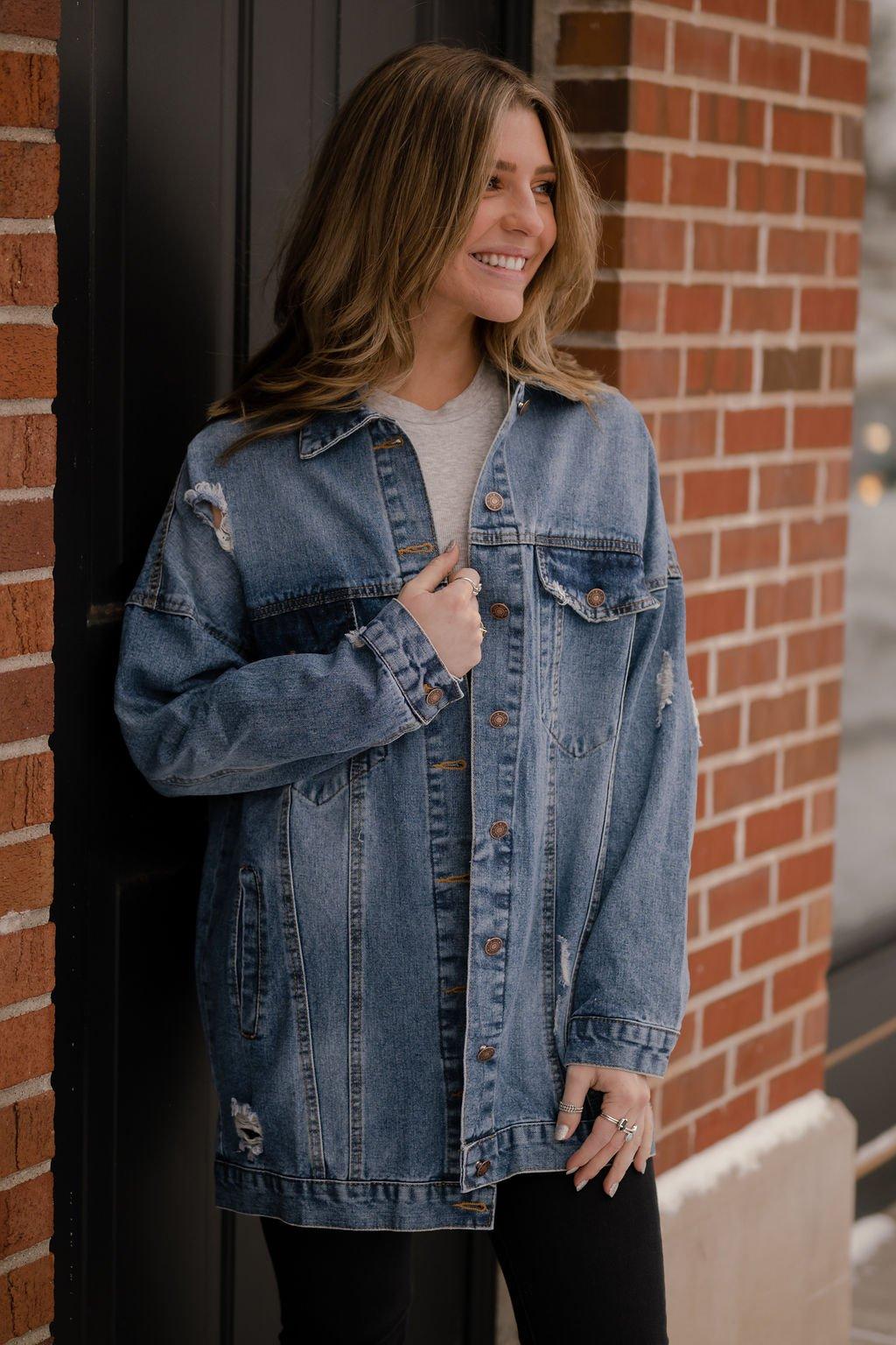 Blue B Oversize Denim Jacket
