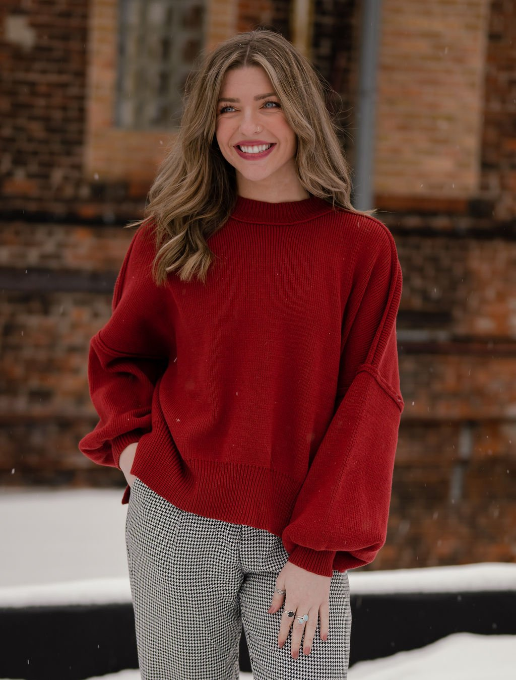Emory Park Rich Red Sweater