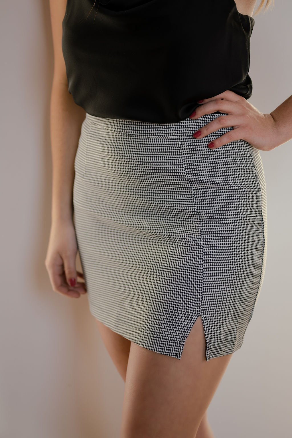 TCEC Black Checked Skirt