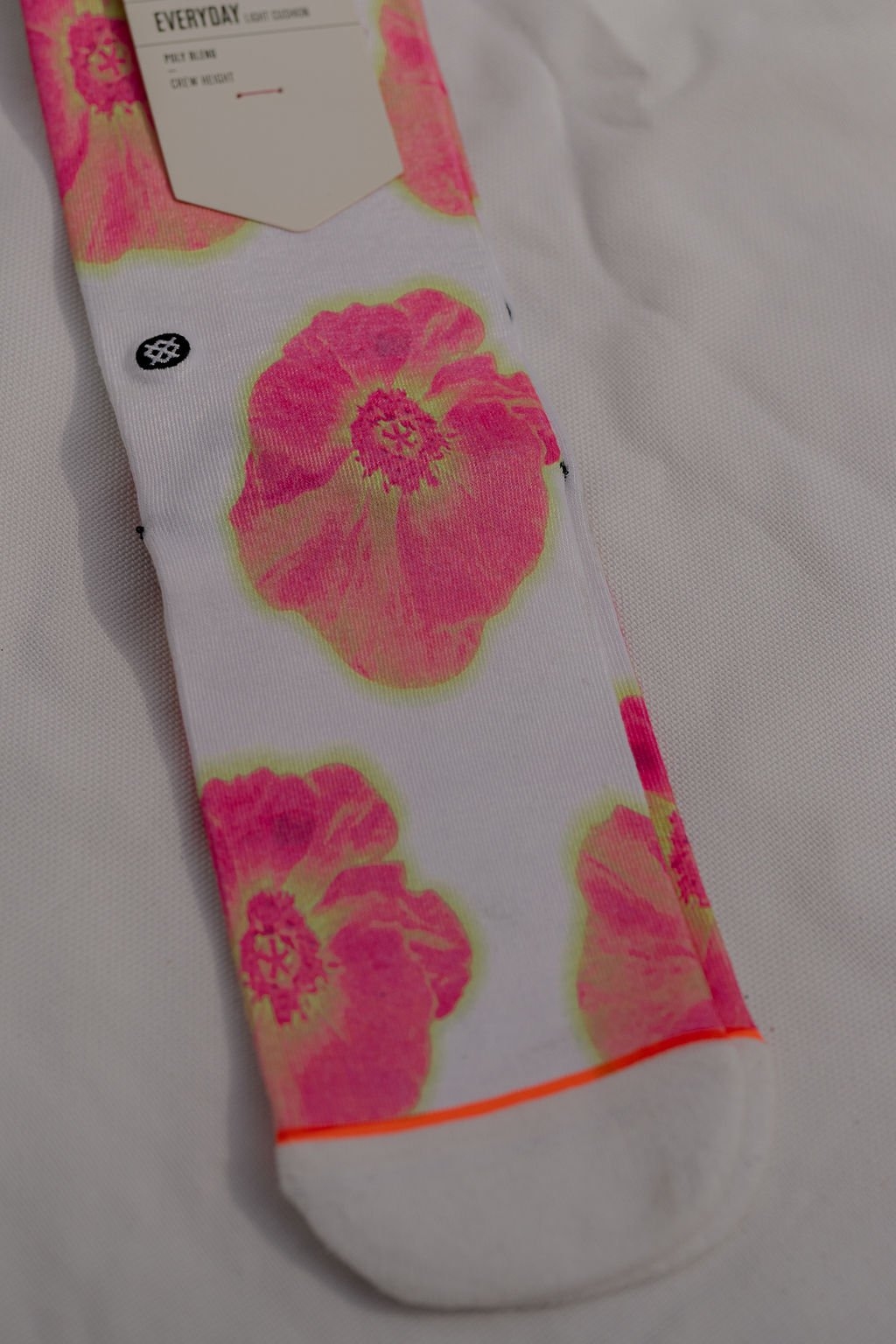 Stance White Thermo Floral Crew