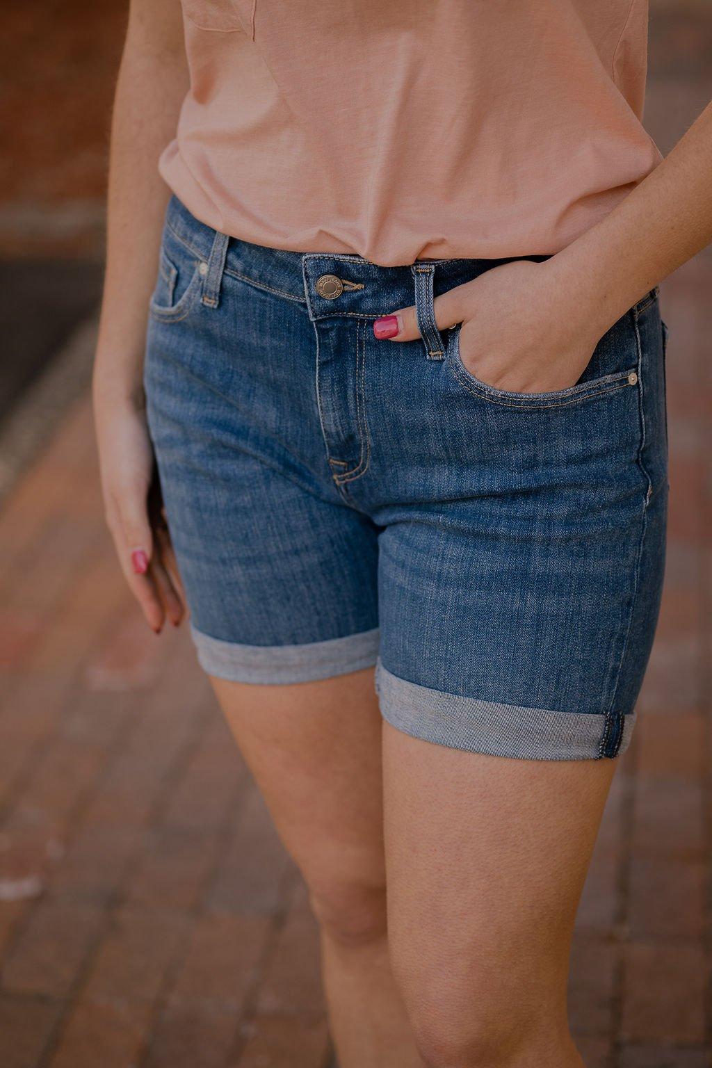 Mavi Pixie Mid Indigo Organic Blue Short