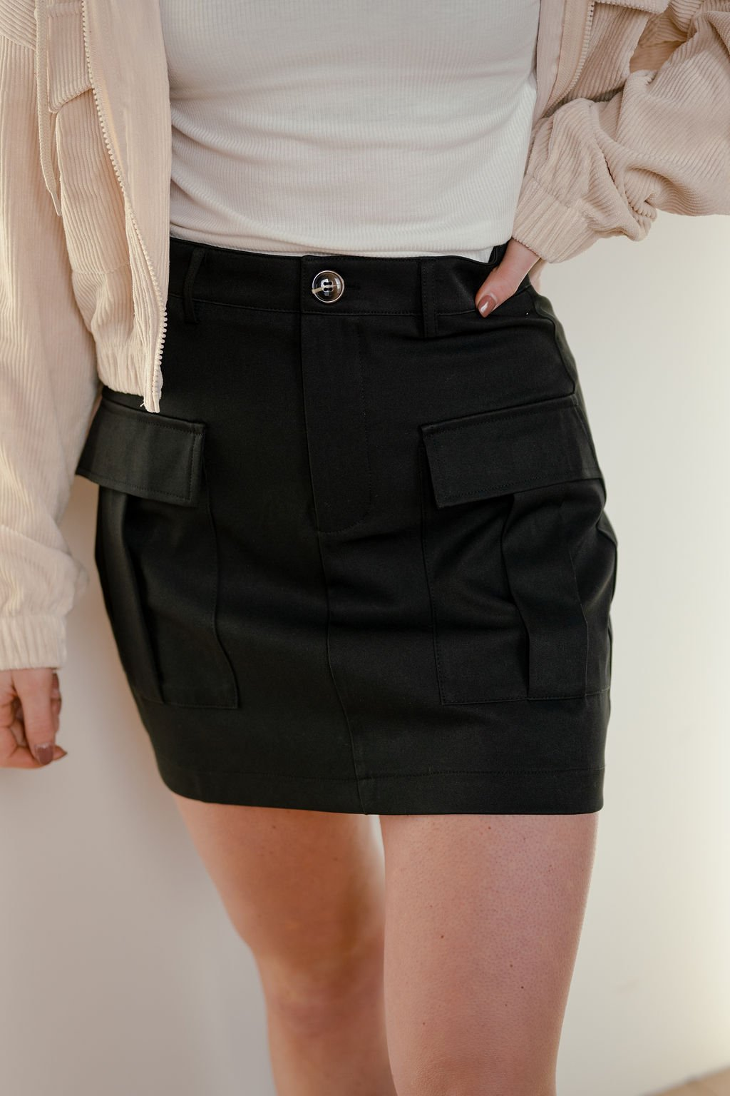 Idem Ditto Black Mini Skirt