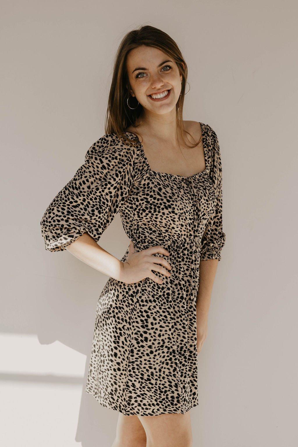 Billabong Leopard Mini Dress
