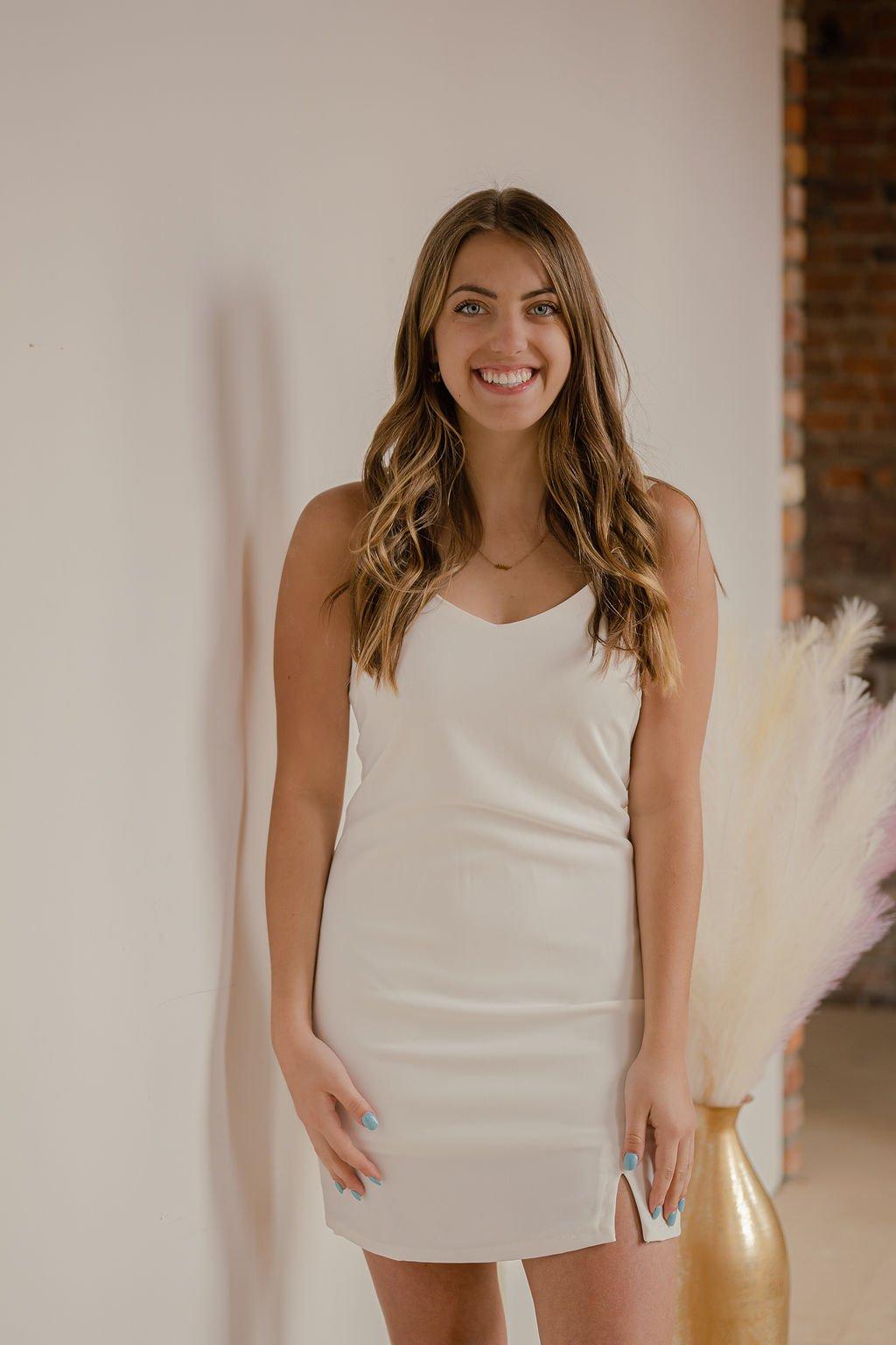 She & Sky Off White Dress