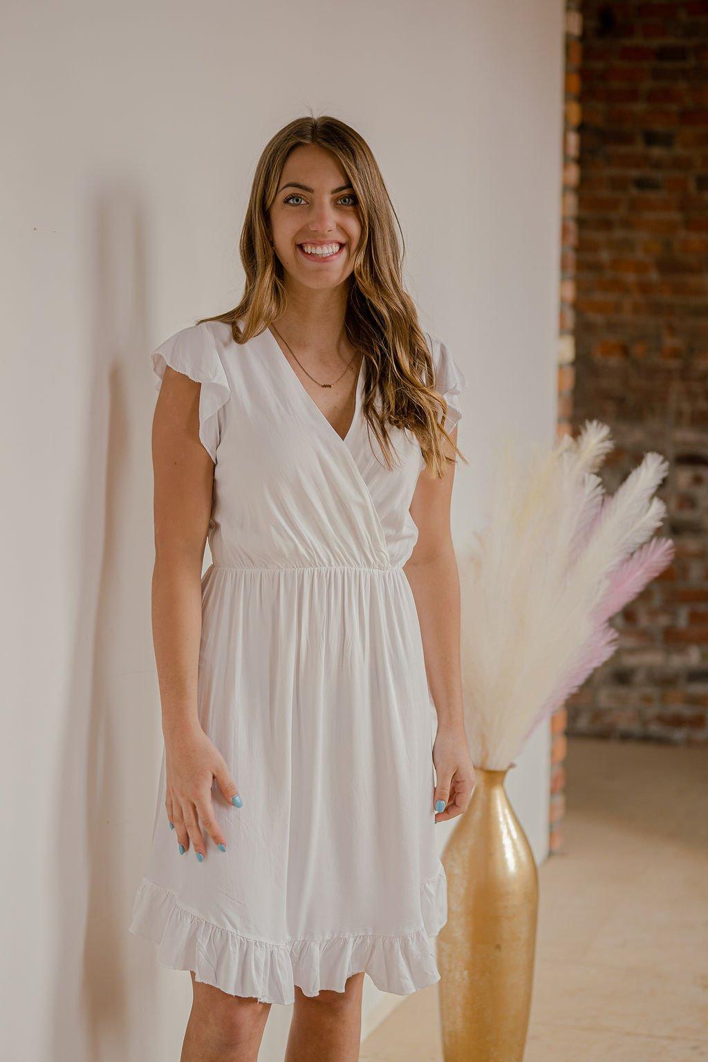 Venti White Dress