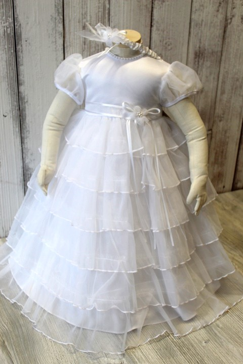 Lauren Madison Tulle Tiered Baptism Gown