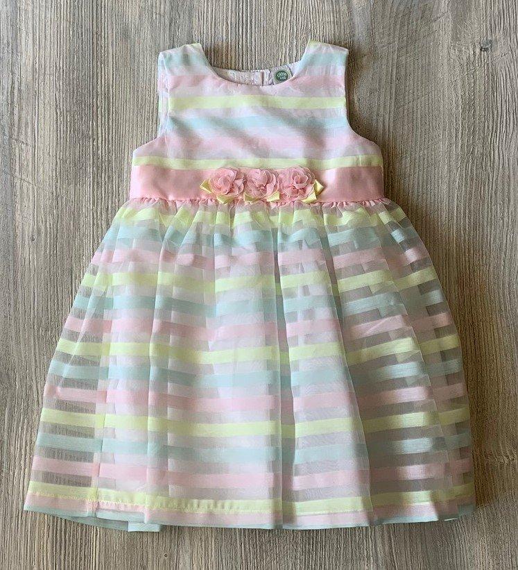 Little Me Pastel Striped Dress