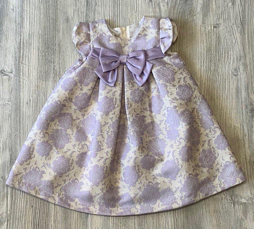 Bonnie Jean Cream & Lavender Dress
