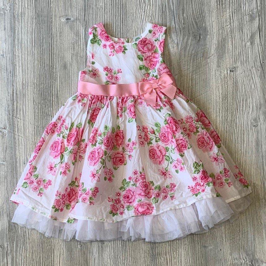 Little Me Pink Floral Dress