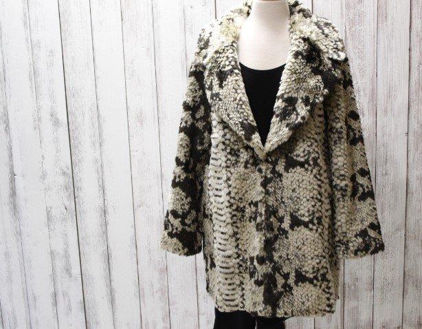 Dolce Cabo Light Snake Skin Faux Fur Coat