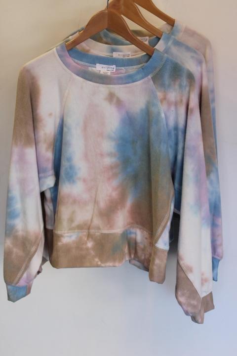 Ariella Lilac/Blue Tie Dye Top