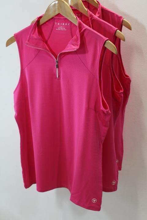Tribal Pink Sleeveless Golf Top
