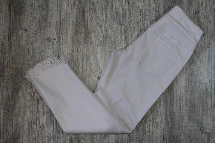 Ethyl White Fray Hem Jean