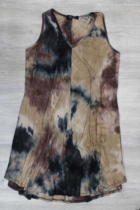 Papillon Tie Dye Dress with Pockets