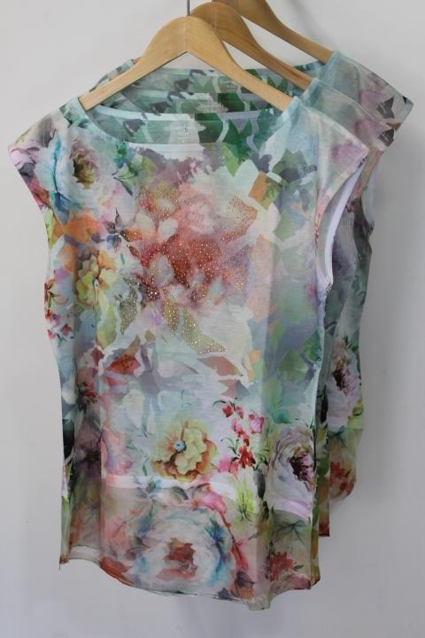 Sioni Multi Colored Sleeveless Top