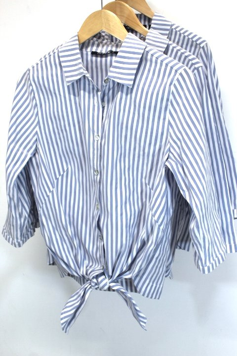 Insight Striped Button Blouse