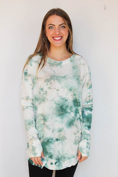 Free People Washed Arden Tee/ Marine Combo
