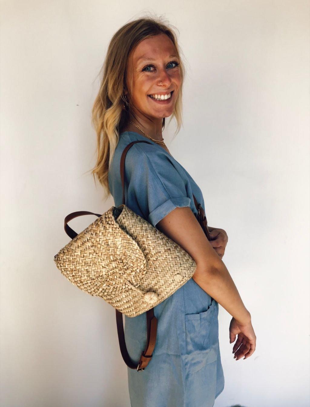 Billabong Natural Straw Backpack