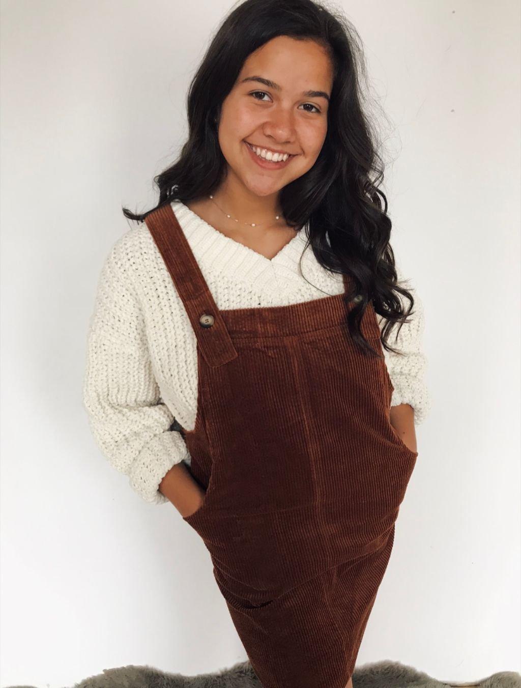Ellingson rust cordurouy jumper dress