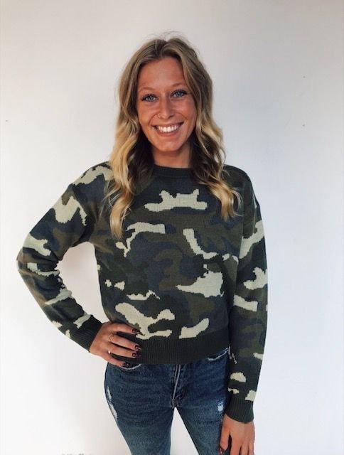 Dickies Girl olive camo sweater