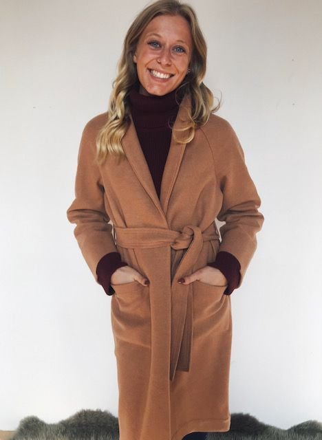 Gentle Fawn Caden tan wool coat