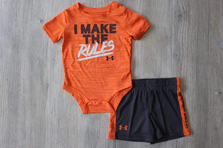 Under Armour Orange Short Set