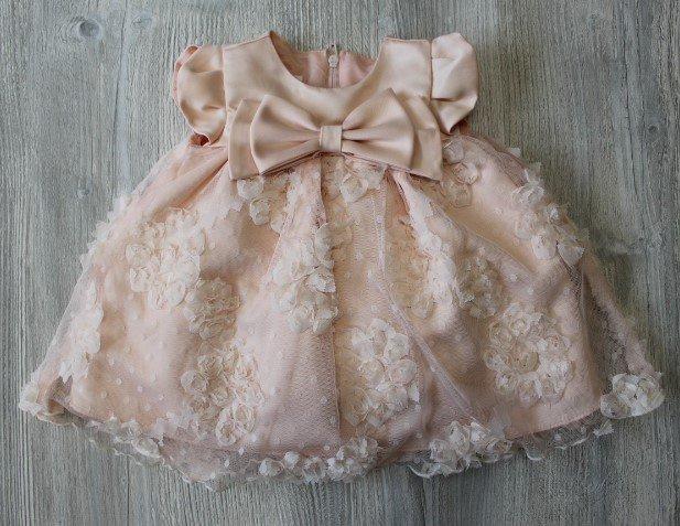 Bonnie Jean Peach Dress