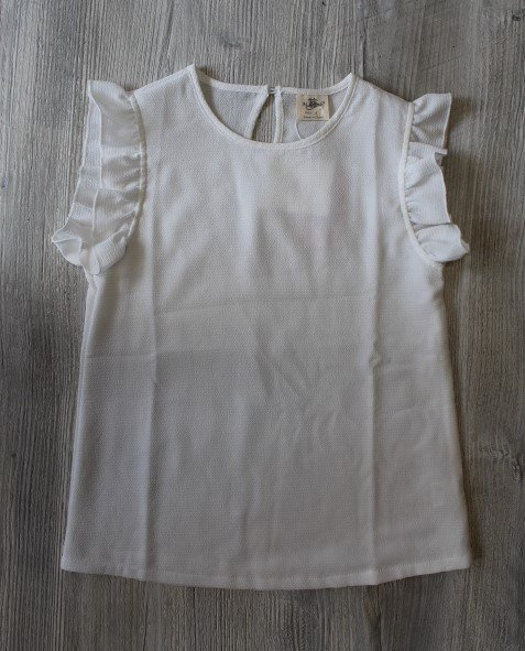 M.L. Kids White Sleeveless Top