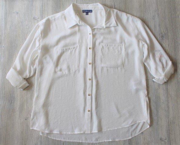 Democracy Button Up Blouse