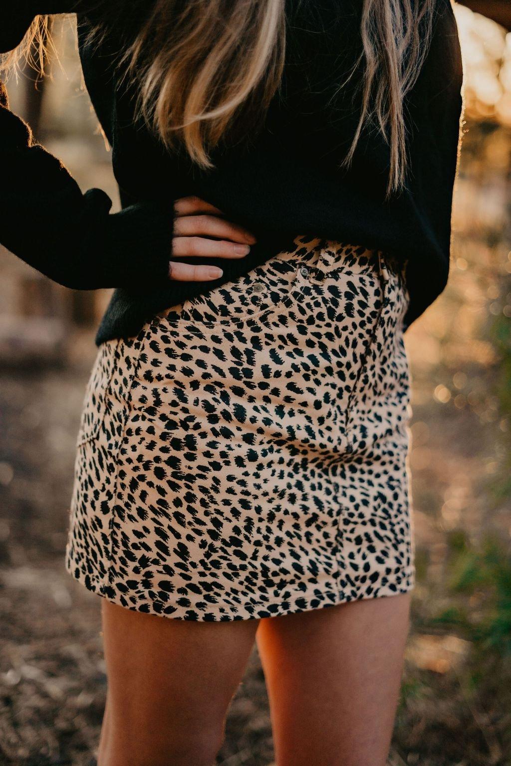 Billabong Leopard Mini Skirt