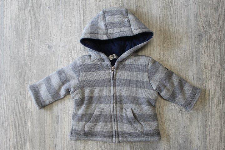 Mayoral Grey Striped Zip Up Hoodie