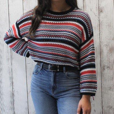 BB Dakota Kaleidoscope Eyes stripe Sweater