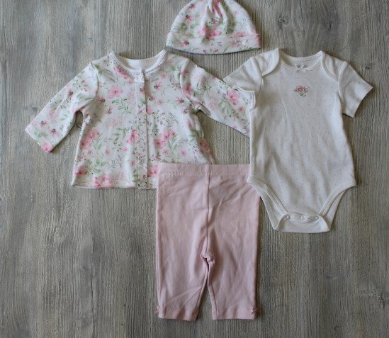 Little Me Blossom Garden Set with Hat