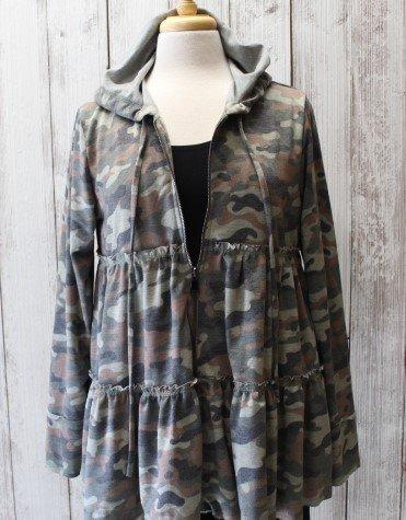 Ariella Camo Zip Up Jacket