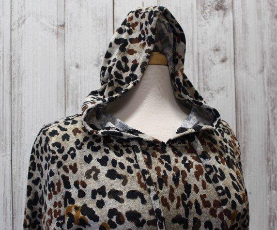 Tribal leopard printed hoodie