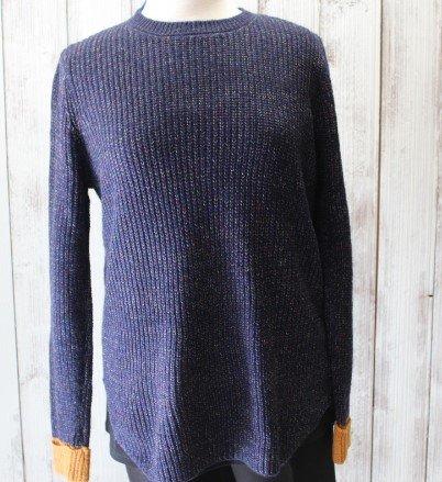 Papillon navy flecked sweater