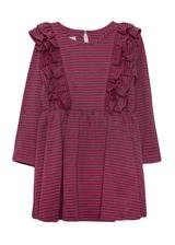 Isobella & Chloe Pink & Grey Stripe Dress
