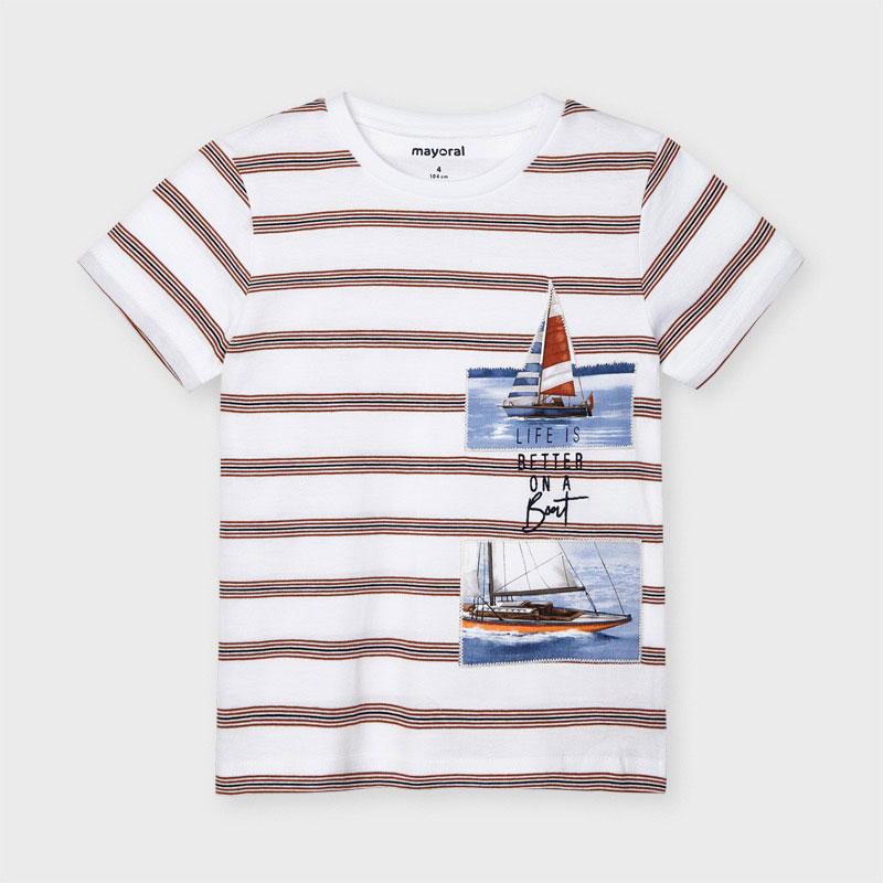 Mayoral Striped Boat Tee