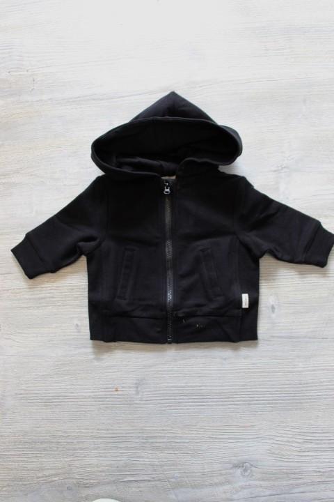 Miles Baby Black Zip Up Hoodie