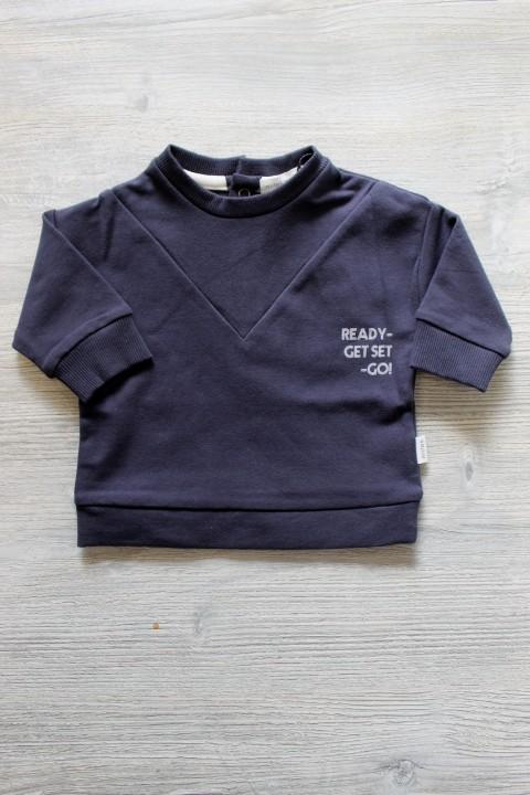 Miles Baby Navy Blue Crewneck