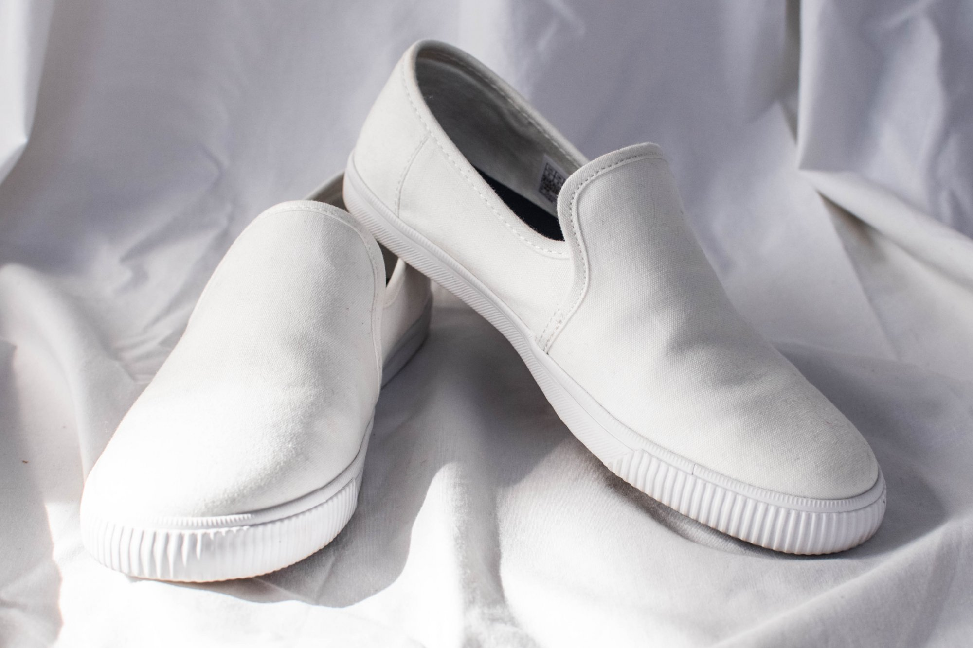 Toms Clemente White Canvas Slip On