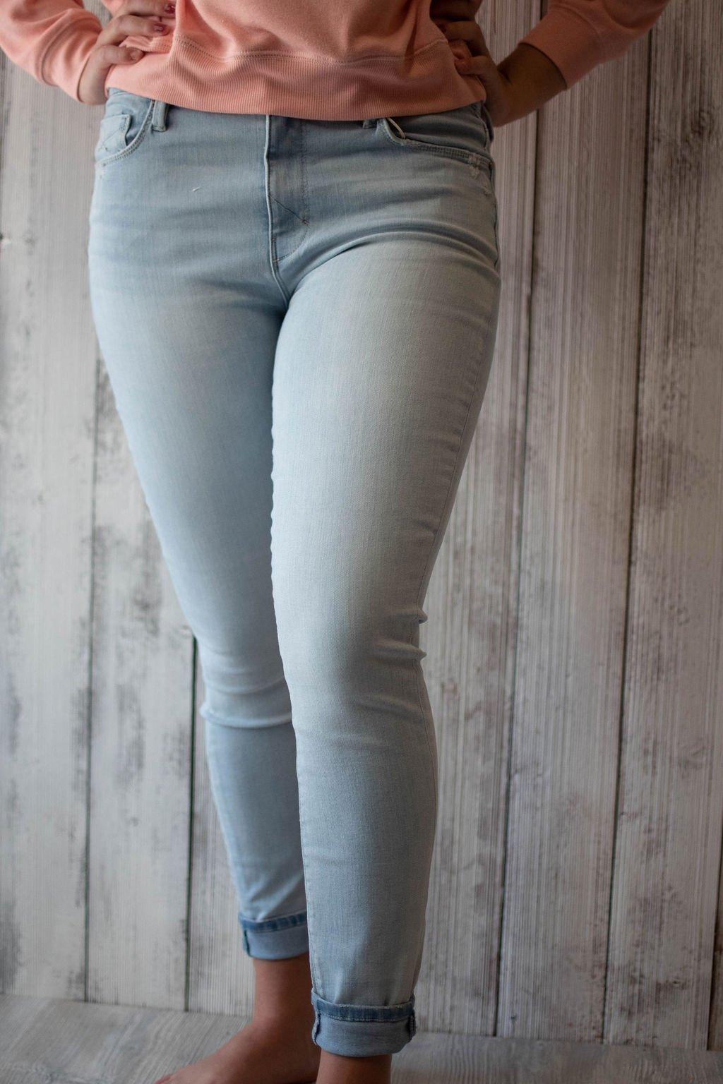 Unpublished Olivia High Rise Bleach Blue Skinny Jeans