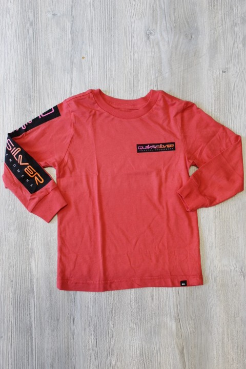 Quiksilver Red Logo Long Sleeve