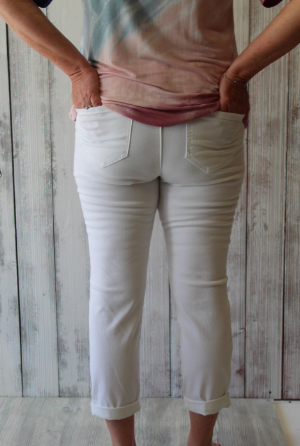 Democracy White Ankle Length Jegging