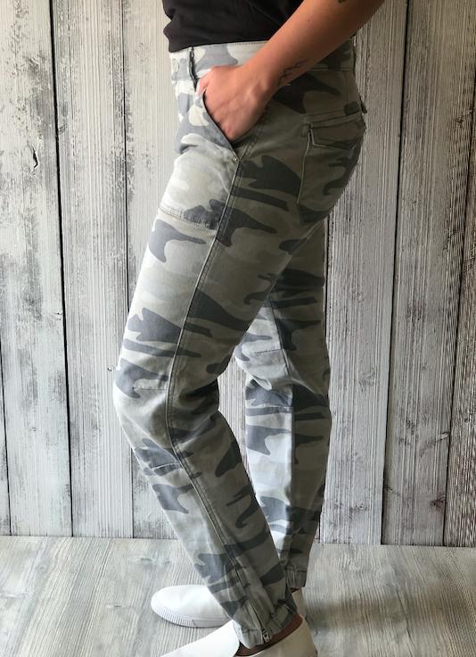 Mavi Ivy Grey Camo Pant