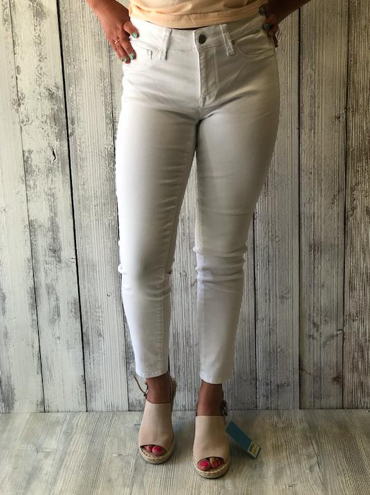 Mavi Adriana Ankle White Skinny