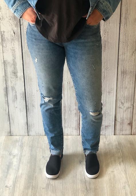 Mavi Ada Ripped and Vintage Blue Jean